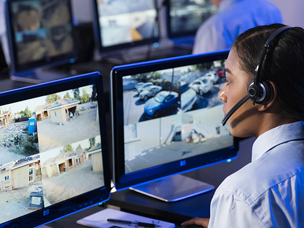 Security Camera Feed Monitored Remotely by Trained, Experienced Guards